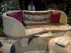 sandstone bedrock bench