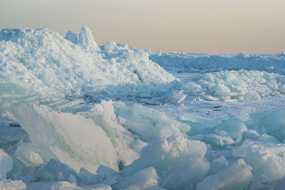 Glaciers on Lake Erie